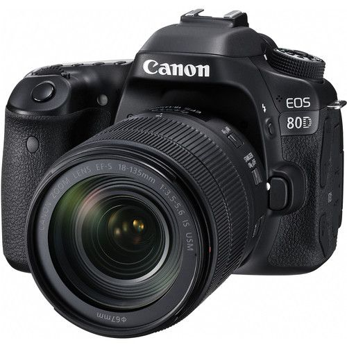 Canon EOS 80D DSLR Camera with Canon EF-S 18-135mm f/3.5-5.6 IS USM Lens Kit
