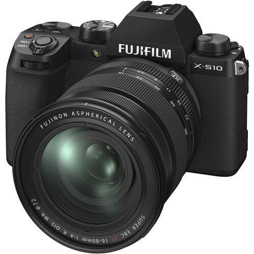 FUJIFILM X-S10 Mirrorless Digital Camera with 16-80mm Lens (Black)