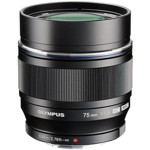 Olympus M.Zuiko Digital ED 75mm f/1.8 Lens (Black/Silver)