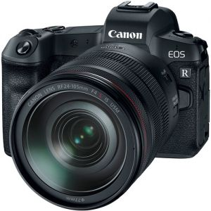 Canon EOS R Mirrorless Digital Camera with RF 24-105mm f/4L Lens & EF-EOS R Control Ring Adapter Kit
