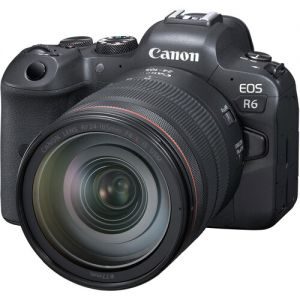 Canon EOS R6 Mirrorless Digital Camera with RF 24-105mm f/4L IS USM & EF-EOS R Adapter Kit