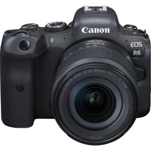 Canon EOS R6 Mirrorless Digital Camera with RF 24-105mm f/4-7.1 IS STM Lens with EF-EOS R Control Ring Adapter Kit